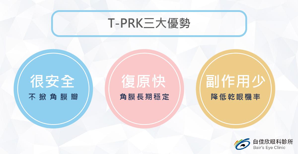 T-PRK 近視雷射三大優勢