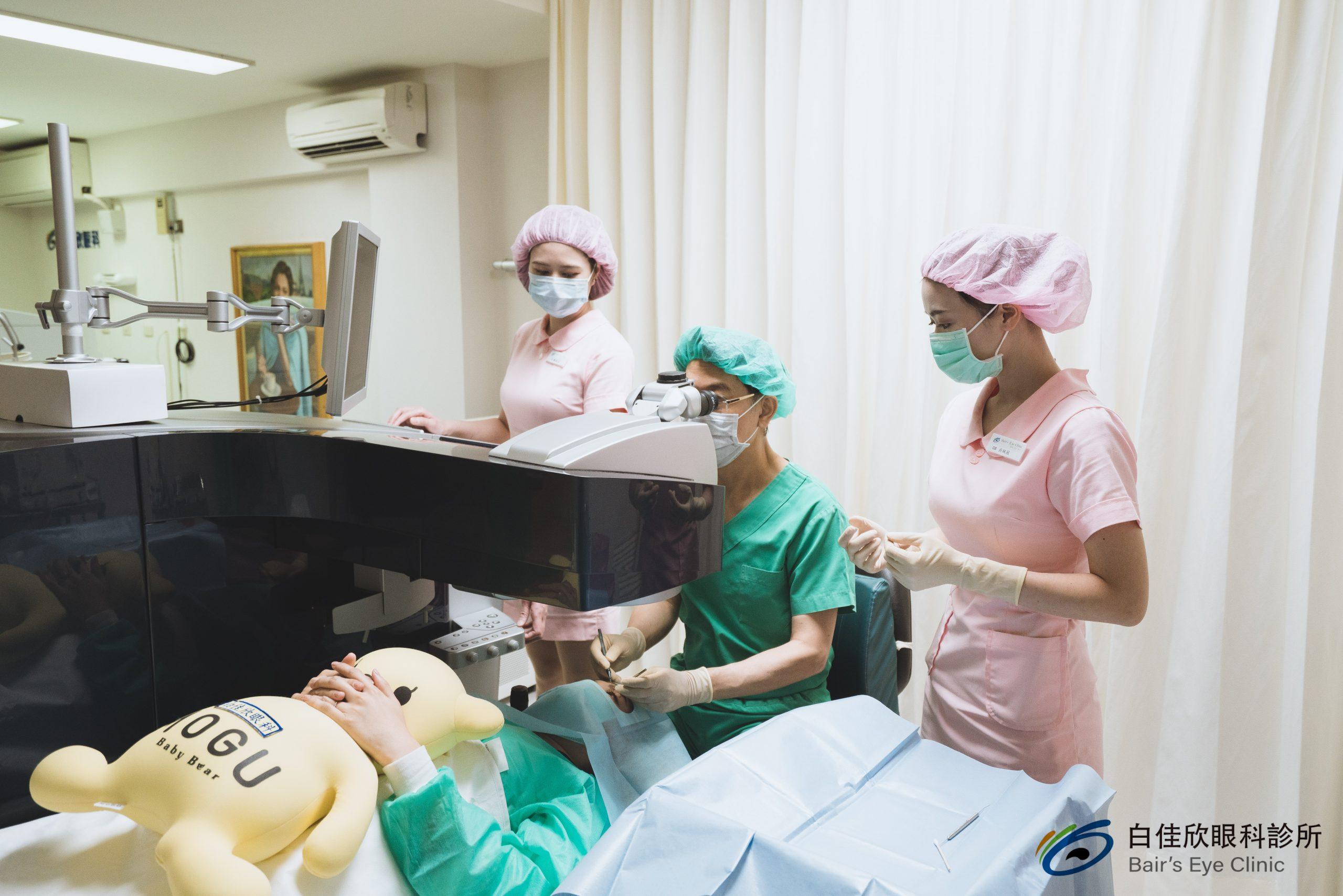 近視雷射手術過程-台中白佳欣眼科